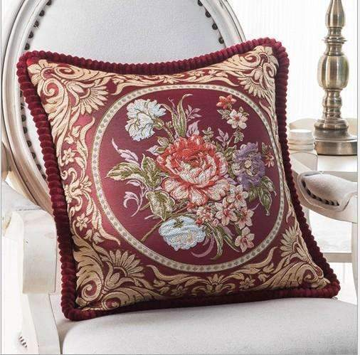 PinKart-USA Online Shopping H / 45x45m only cover Luxurious Embroidery Velour Home Decor Cushion Decoration Lace Pillow / European Velvet Sofa