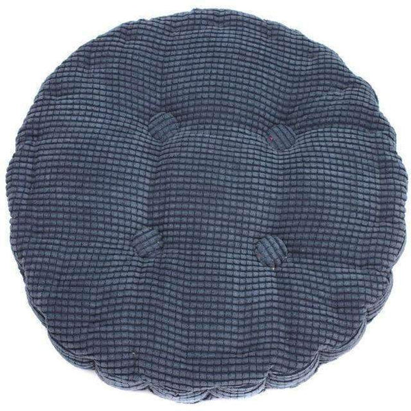 PinKart-USA Online Shopping Haidianblue 1Pc 36*38Cm Round Shape Plaid Chair Pad Cushion Thicker Soft Washable Cotton Colorful Home Decor