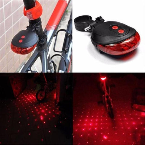 PINkart-USA Online Shopping High Quality Bicycle Laser Lights Led Flashing Lamp Tail Light Rear Cycling Bicycle Bike Safety