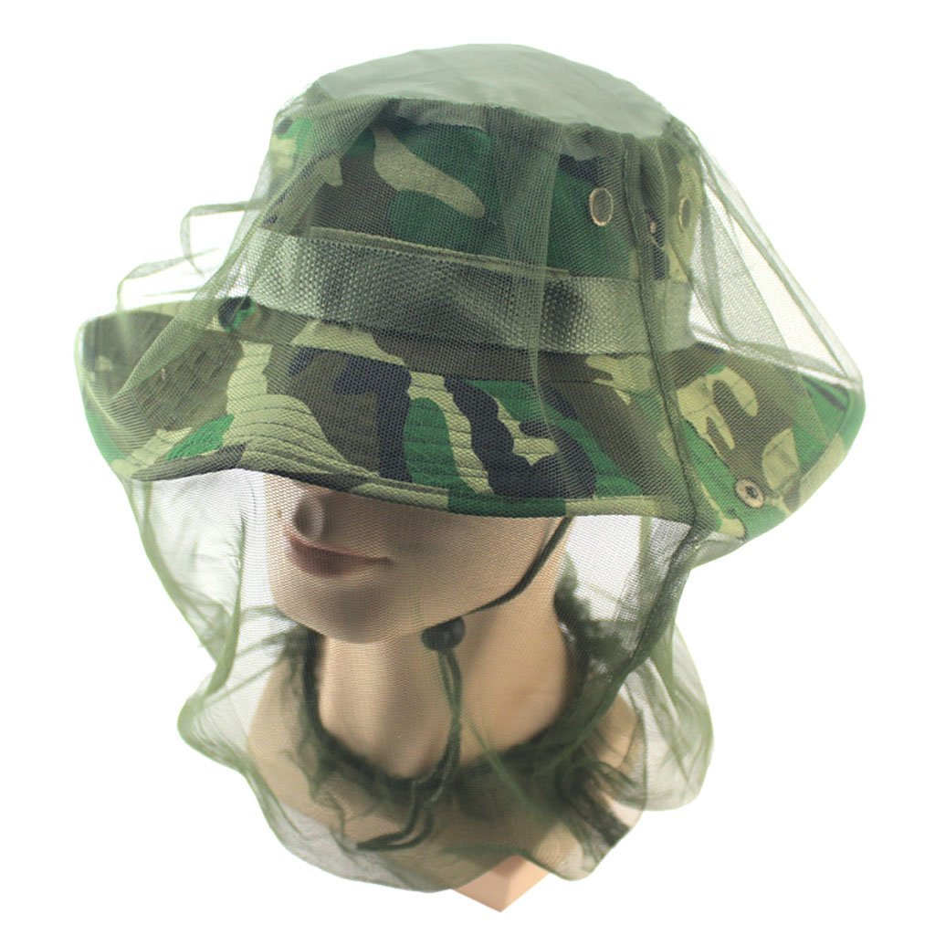 High Quality Military Camouflage Fishing Hat Mosquito Bug Insect Net Bee Mesh Head Face Cover