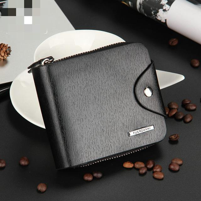 PINkart-USA Online Shopping Horizontal Black Est Coin Purse Men Wallets Portable Handy Bag Men'S Purse Small Mini Wallet High Quality Pu