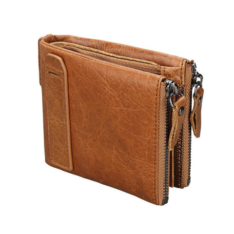 PINkart-USA Online Shopping Horse Real Leather Men Wallets Vintage Genuine Leather Wallet For Men Cowboy With Double Zipper