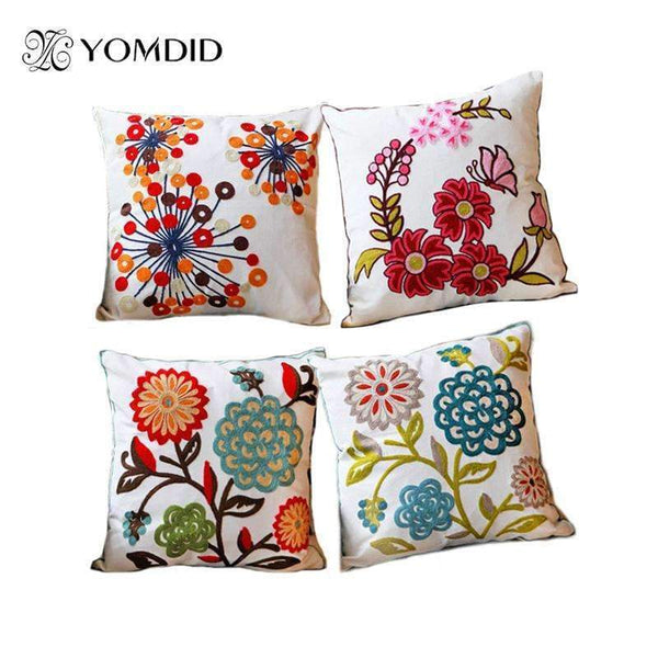PinKart-USA Online Shopping Hot National Style Sofa /Carcushions Flowers And Fashion Pillows Decorate Hand-Embroidered