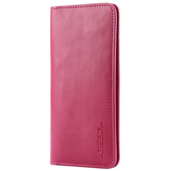 PinKart-USA Online Shopping Hot Pink Pu Leather Wallet Purse Universal Case For Iphone 7 6 6S Plus 8 8S With Card Slot Full Protective