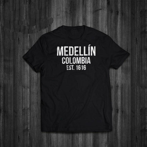 PINkart-USA Online Shopping Hot Sale Super Fashion Summer Funny Print T-Shirts Narcos Medellin Est 1616 Pablo Escobar Movie Tee