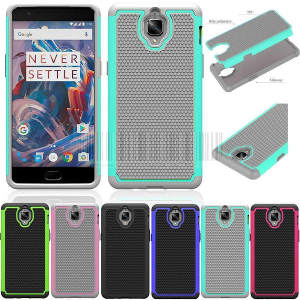 PinKart-USA Online Shopping Hybrid Armor Heavy Duty Impact Dual Layer Tpu Silicone Hard Pc Shockproof Case Cove For Oneplus 3