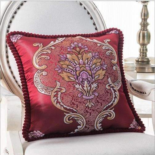 PinKart-USA Online Shopping I / 45x45m only cover Luxurious Embroidery Velour Home Decor Cushion Decoration Lace Pillow / European Velvet Sofa