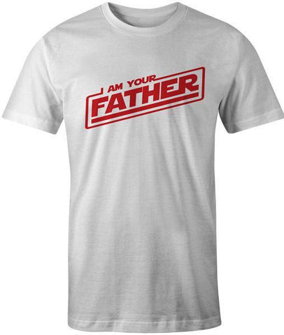 PINkart-USA Online Shopping I Am Your Father T-Shirt Father'S Day Gift Birthday Top Tee Mans Unique Cotton Short Sleeves