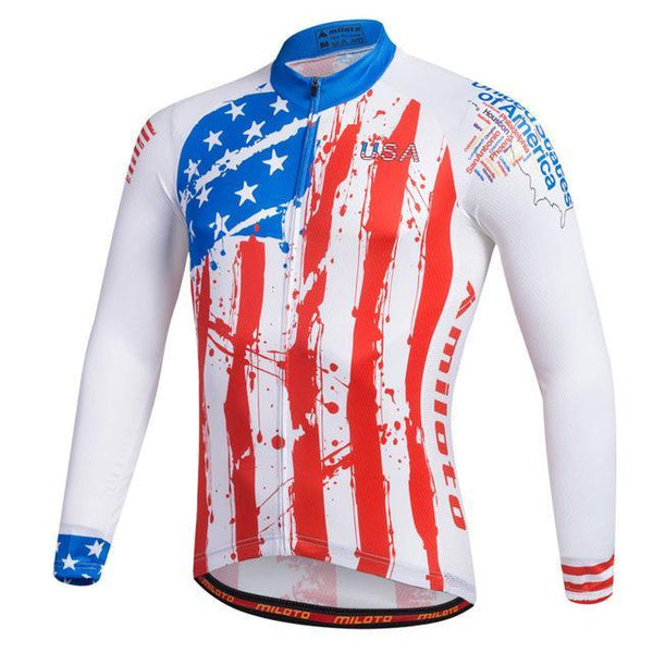 PINkart-USA Online Shopping Ivory / L Breathable Pro Racing Cycling Jersey Roupa De Ciclismo Winter Long Sleeve Bicycle Cycling