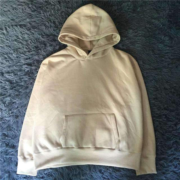 PinKart-USA Online Shopping Khaki / L Man Si Tun Quality Nice Hip Hop Hoodies With Fleece Warm Winter Kanye West Hoodie Sweatshirt