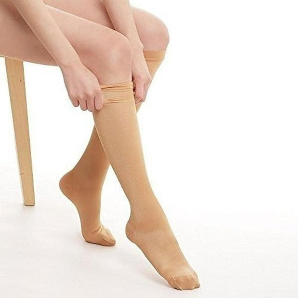 PINkart-USA Online Shopping Khaki / S Hot Unisex Compression Stockings Pressure Nylon Varicose Vein Stocking Knee High Leg Support