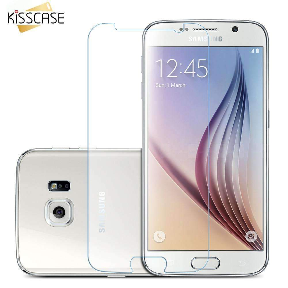 PinKart-USA Online Shopping Kisscas Glass Screen Protector For Samsung Galaxy S5 S4 S3 A5 A7 A8 J5 J7 Note 4 5 3 Tempered