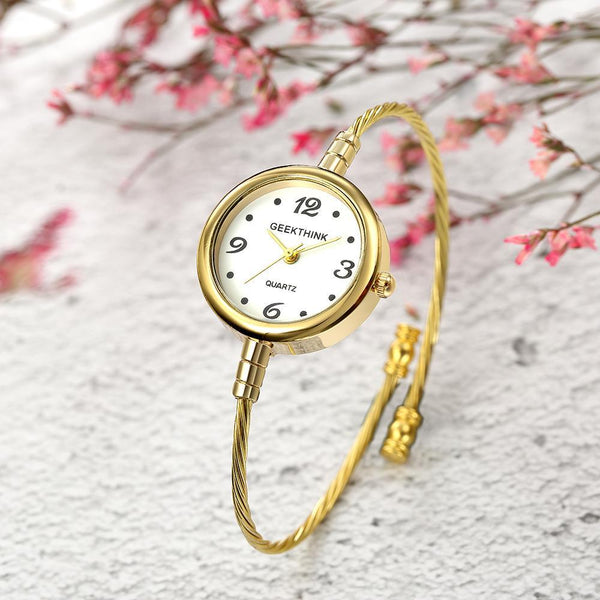 PINkart-USA Online Shopping Ladies Quartz Bracelet Watch Women Brand Quartz Wrist Watch Clock Female Fashion Casual Steel