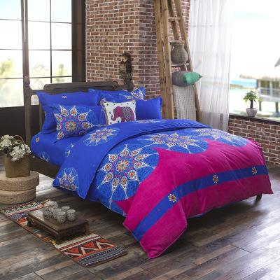 PINkart-USA Online Shopping landiao / Full Folk-Custom Bedding Set Polyester Soft Bedclothes Print Product Set Full / Queen / King Size With