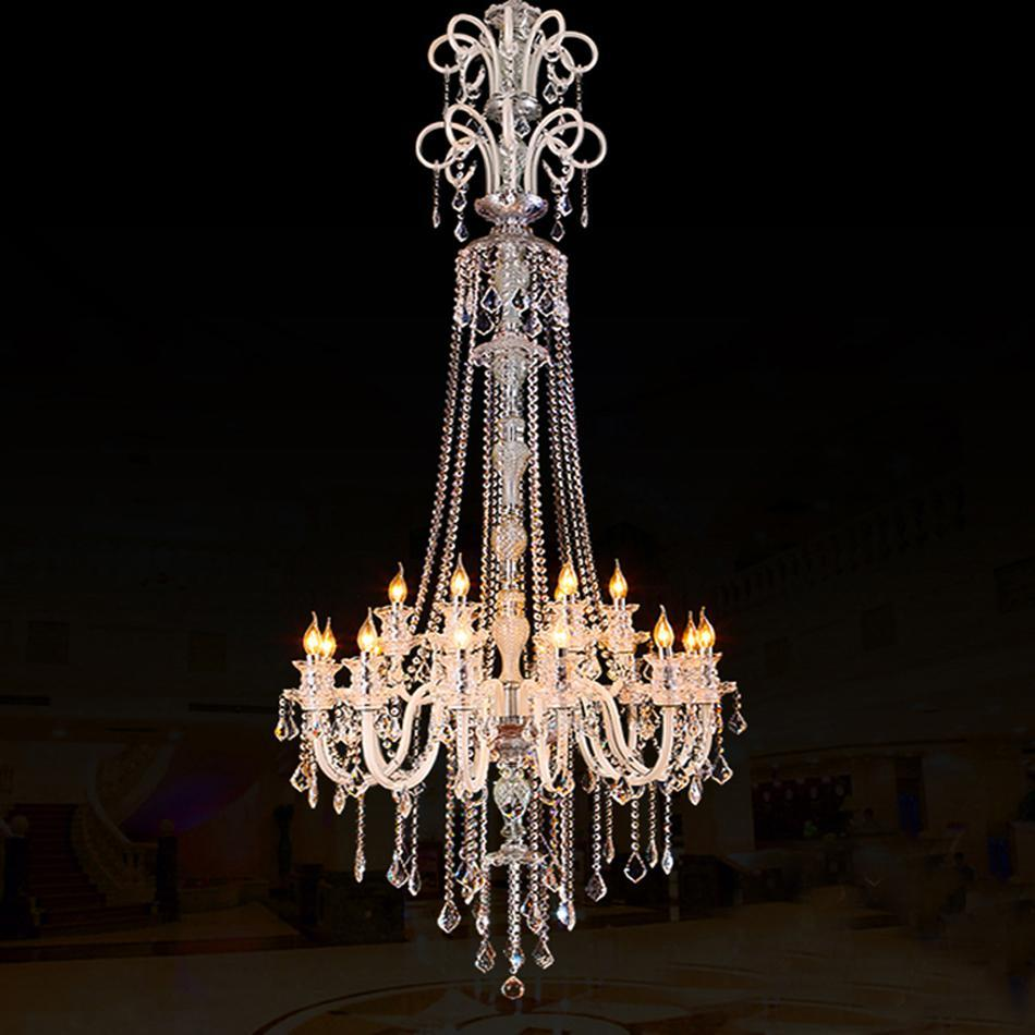 PINkart-USA Online Shopping Large Modern Crystal Chandelier For High Ceiling Extra Large Chandelier Living Room Led Luxury