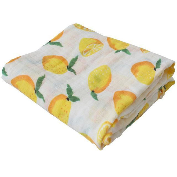 PINkart-USA Online Shopping Lemon Super Soft Blanket For Children Cotton Bamboo Muslin Swaddle For Newborns Baby Wrap Breathable Car