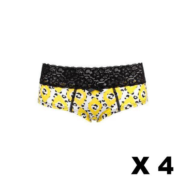 PINkart-USA Online Shopping Leopard x4 / S Ladies Underwear Pure Cotton Leopard Series Couple Panties Lace Belt Women Triangle Underwear