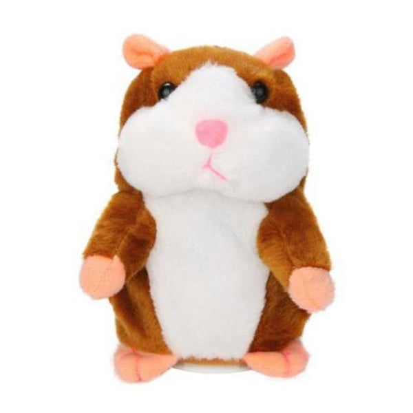 PINkart-USA Online Shopping Light Brown Talking Hamster Mouse Pet Plush Toy Learn To Speak Electric Record Hamster Educational Children