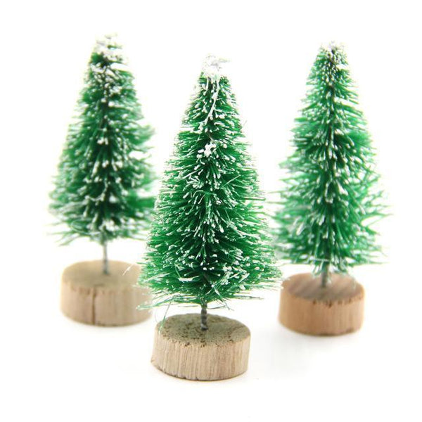 PinKart-USA Online Shopping Light Green / 45mm 15Pcs Diy Christmas Tree 3Colors Small Pine Tree Mini Trees Placed In The Desktop Home Decor