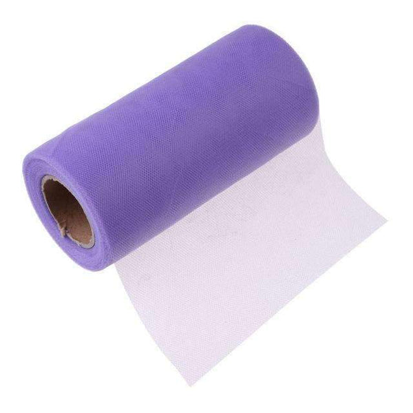 PinKart-USA Online Shopping Light Purple Tissue Tulle Roll 15Cm 26Yards Spool Tutu Gift Wrap Wedding Decoration Birthday Party Baby Shower