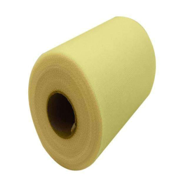 PinKart-USA Online Shopping LIGHT YELLOW 60 Color Pick Wedding Tulle Roll Spool Fabric 6Inch*100Yards Baby Grils Skirt Tutu Tulle Roll Gift