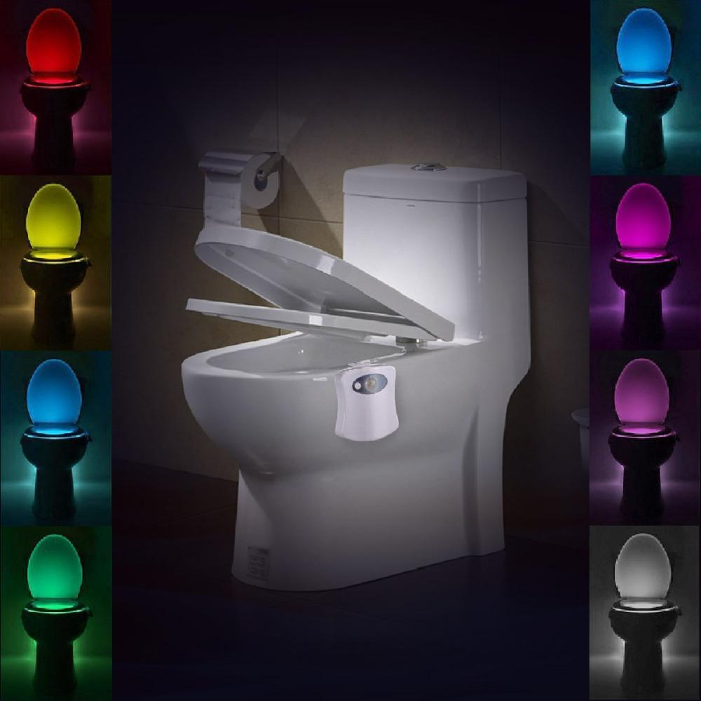 PINkart-USA Online Shopping Lumiparty Led Sensor Motion Toilet Light Activated Glow Toilet Bowl Light Up Sensing Toilet Seat