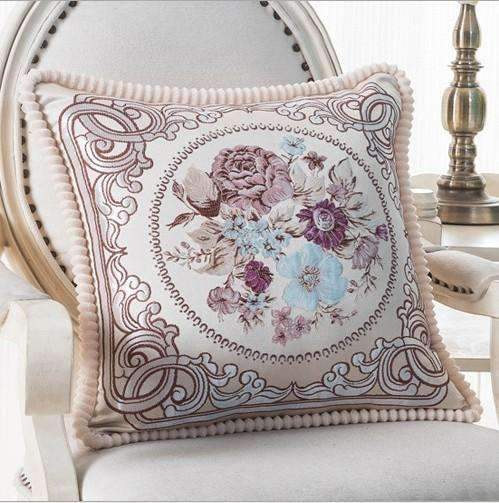 PinKart-USA Online Shopping M / 45x45m only cover Luxurious Embroidery Velour Home Decor Cushion Decoration Lace Pillow / European Velvet Sofa