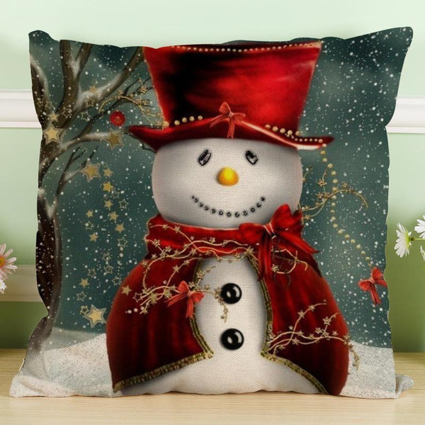 PinKart-USA Online Shopping Maiyubo Romantic Gifts Christmas Santa Claus Pillow Cover Home Decorative Throw Pillow