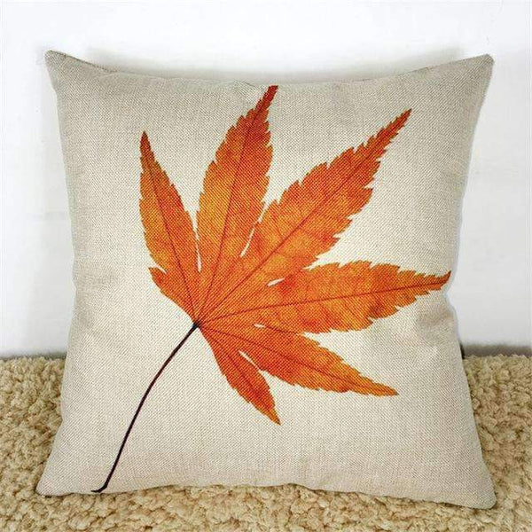 PinKart-USA Online Shopping Maple Leaves Cushion Maple Leaf Canadian Style Cotton Linen Pillow Cushion Sofa Bedroom Home Decorative Throw