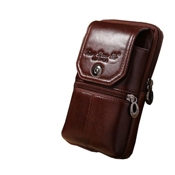 PINkart-USA Online Shopping Men Genuine Leather Vintage Travel Cell/Mobile Phone Cover Case Hip Belt Bum Purse Fanny Pack Waist