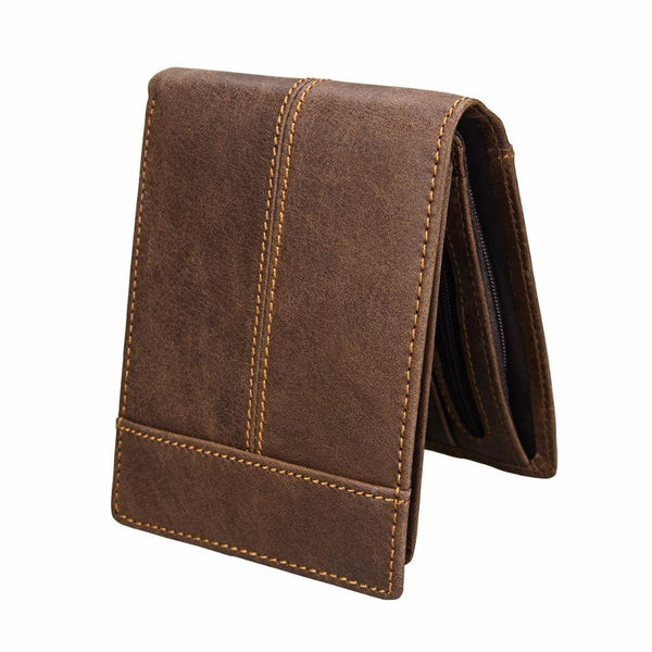 PINkart-USA Online Shopping Men'S Wallet Genuine Leather Wallet Men Splice Zipper Money Bag With Coin Pocket Male Purse