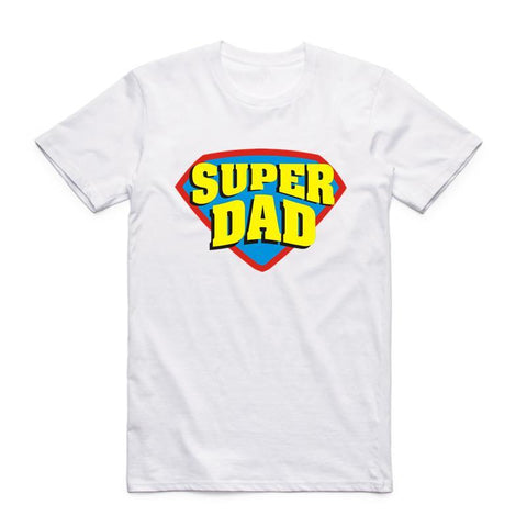 PINkart-USA Online Shopping Men Super Dad Father'S Day Gift Vaderdag T Shirt Fathers Day Gift Summer Fashion O Neck Short