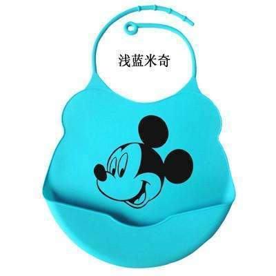 PinKart-USA Online Shopping Mickey / One Size Design Baby Bibs Waterproof Silicone Feeding Baby Salivatowel Wholesale Born Cartoon