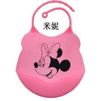 PinKart-USA Online Shopping Minnie / One Size Design Baby Bibs Waterproof Silicone Feeding Baby Salivatowel Wholesale Born Cartoon