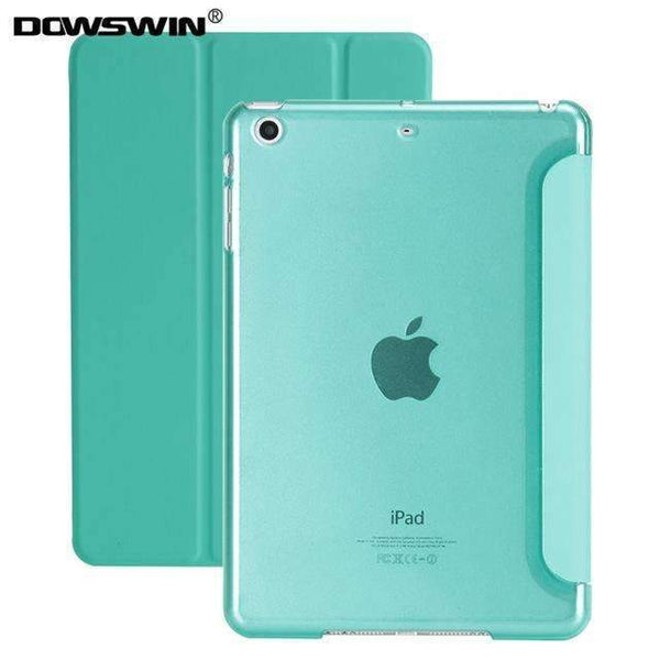 PinKart-USA Online Shopping mint green For Ipad 9.7 Case Release Smart Wake Up Sleep Pu Leather With Matte Transparent Pc Back