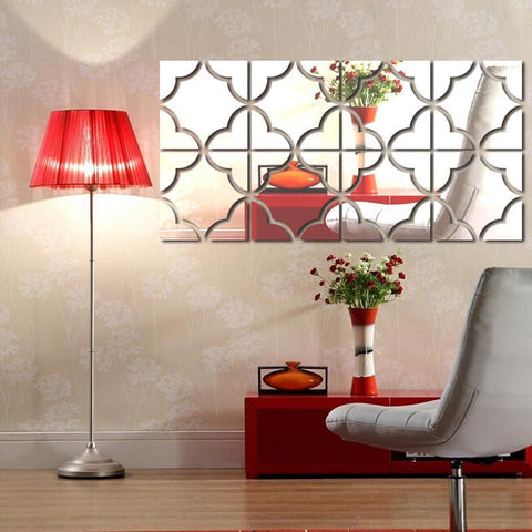 PINkart-USA Online Shopping Mirror Wall Stickers Diy Home Decor 3D Large Adesivo De Parede Wall Stickers For Kids Rooms
