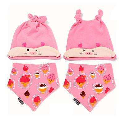 PINkart-USA Online Shopping MK1701 Mother Nest Baby Caps & Bibs High Quality Cotton Baby Hat Cartoon Printed Scarf Kids Hat Autumn