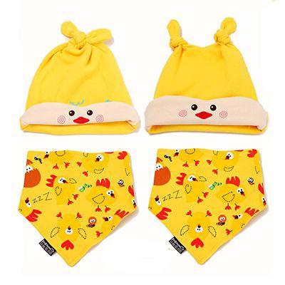 PINkart-USA Online Shopping MK1702 Mother Nest Baby Caps & Bibs High Quality Cotton Baby Hat Cartoon Printed Scarf Kids Hat Autumn
