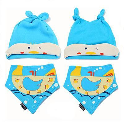 PINkart-USA Online Shopping MK1703 Mother Nest Baby Caps & Bibs High Quality Cotton Baby Hat Cartoon Printed Scarf Kids Hat Autumn