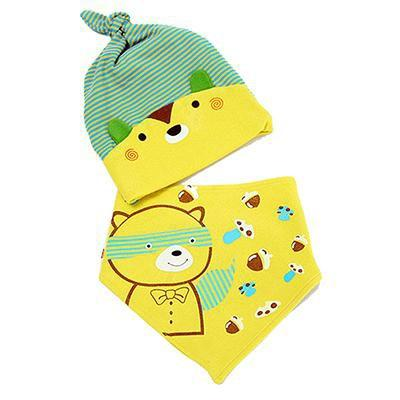 PINkart-USA Online Shopping MK1705 Mother Nest Baby Caps & Bibs High Quality Cotton Baby Hat Cartoon Printed Scarf Kids Hat Autumn