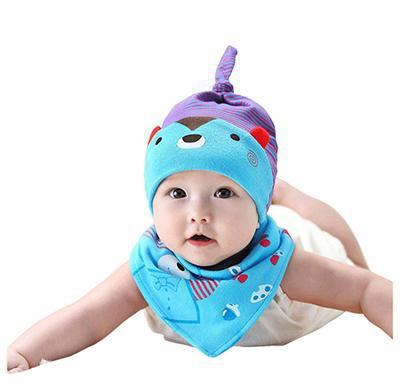 PINkart-USA Online Shopping MK1706 Mother Nest Baby Caps & Bibs High Quality Cotton Baby Hat Cartoon Printed Scarf Kids Hat Autumn