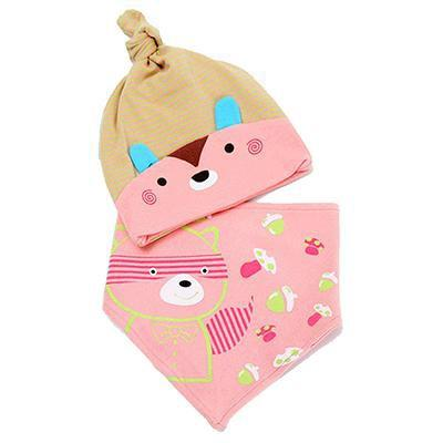 PINkart-USA Online Shopping MK1707 Mother Nest Baby Caps & Bibs High Quality Cotton Baby Hat Cartoon Printed Scarf Kids Hat Autumn