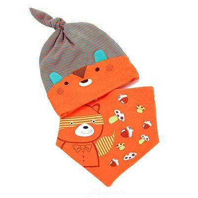 PINkart-USA Online Shopping MK1708 Mother Nest Baby Caps & Bibs High Quality Cotton Baby Hat Cartoon Printed Scarf Kids Hat Autumn