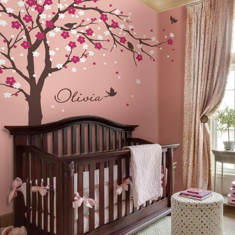 PINkart-USA Online Shopping Modern Cherry Blossom Vinyl Wall Stickers Tree With Flowers Wall Art Decals Kids Baby Room