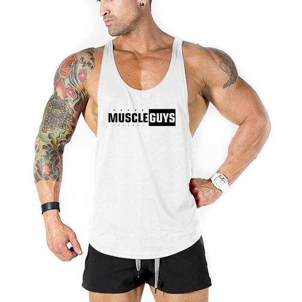 Muscle Guys Apparel Bodybuilding Clothing Tank Tops Fitness Tank Mens Gyms Vest Cotton Sleeveless