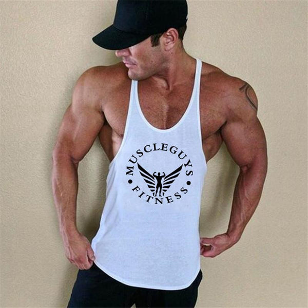 PINkart-USA Online Shopping Muscle Guys Brand Clothing Bodybuilding Stringer Tank Top Mens Fitness Singlet Cotton Sleeveless