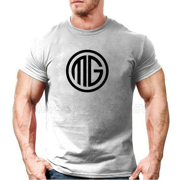 PINkart-USA Online Shopping Muscle Guys Brand Clothing Fitness T Shirt Men Cotton O-Neck T-Shirt Muscle Bodybuilding Tees