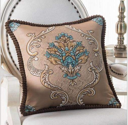 PinKart-USA Online Shopping N / 45x45m only cover Luxurious Embroidery Velour Home Decor Cushion Decoration Lace Pillow / European Velvet Sofa