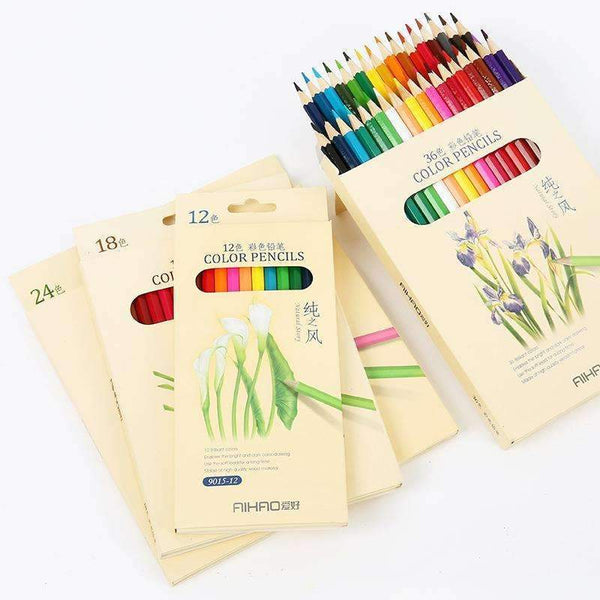 PinKart-USA Online Shopping Nature Story Color Pencils For Drawing 36 Different Colores Pencil Set Crayon Stationery Office