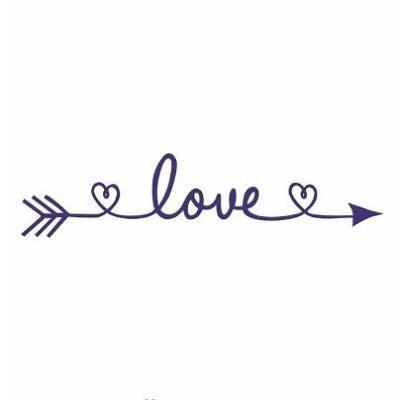 PINkart-USA Online Shopping navy blue / 30x130cm Design Love Arrow Removable Vinyl Wall Stickers Wall Art Decal Kids' Room Wallpaper Above Bed Mural